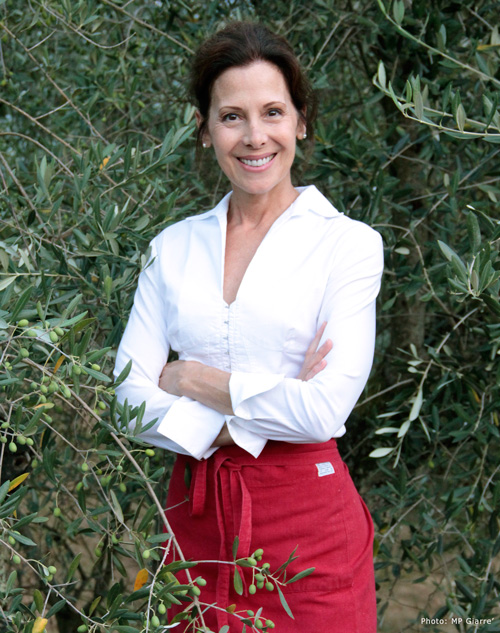 Italian chef Deborah Dal Fovo is at home among the olive trees.