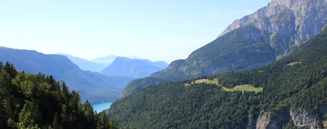 Panorama Lake Molveno - Visit the Dolomites and Lake Molveno on my Trentino Culinary Tour