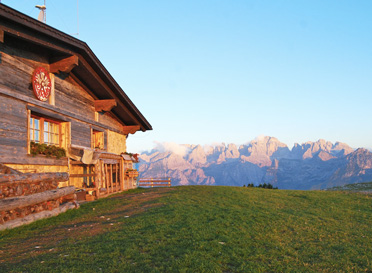 dolomite mountain hut